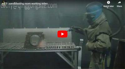 Sandblasting Room Working Video